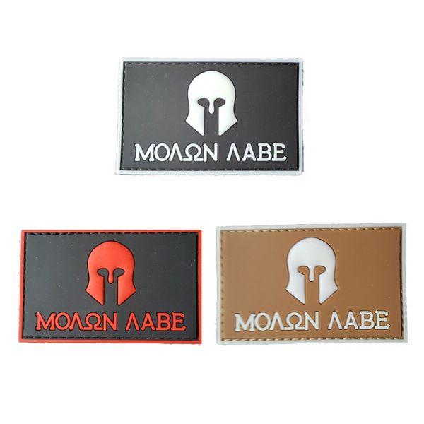 Spartan Army Tactical Usa Military Morale Badge Patch in gomma Distintivi in PVC 3d Patch militari con bracciale Patch tattiche