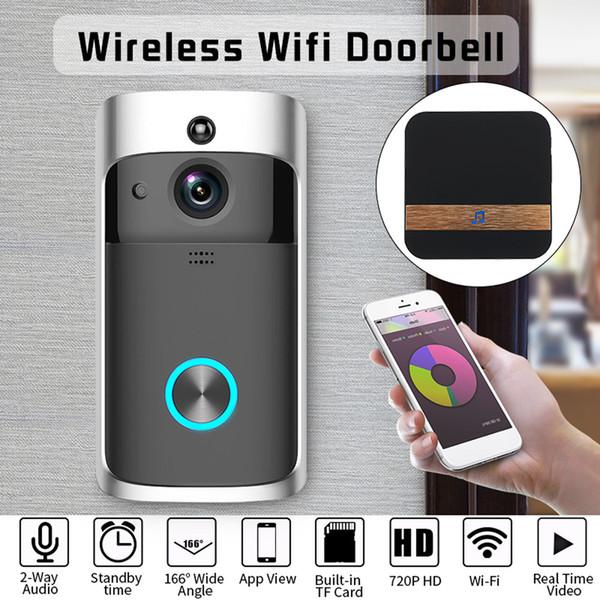 самые лучшие продавая продукты 2019 Беспроводной дверной звонок камеры беспроводной пульт дистанционного видео-домофон ИК безопасности звонок телефона для носимых устройств