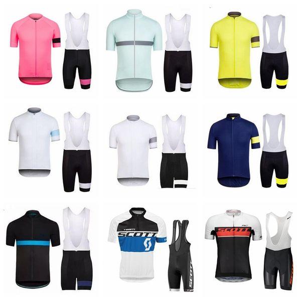 2019 Estate RAPHA SCOTT manica corta da uomo in maglia ciclismo pantaloncini corti Set Racing Bike vestiti Ropa ciclismo abbigliamento per biciclette kit K041003