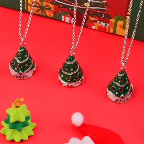 New Christmas Tree Necklace Beautiful Color Craft New Year Gifts Glowing Fashion Women Necklace Christmas Gifts Free shipping