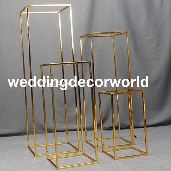 Новинка (без цветов в том числе) позолоченная подставка для цветов свадебное украшение подставка для цветов