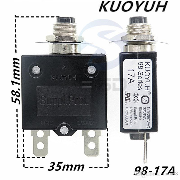 best selling Taiwan KUOYUH 98 Series-17A Overcurrent Protector Overload Switch