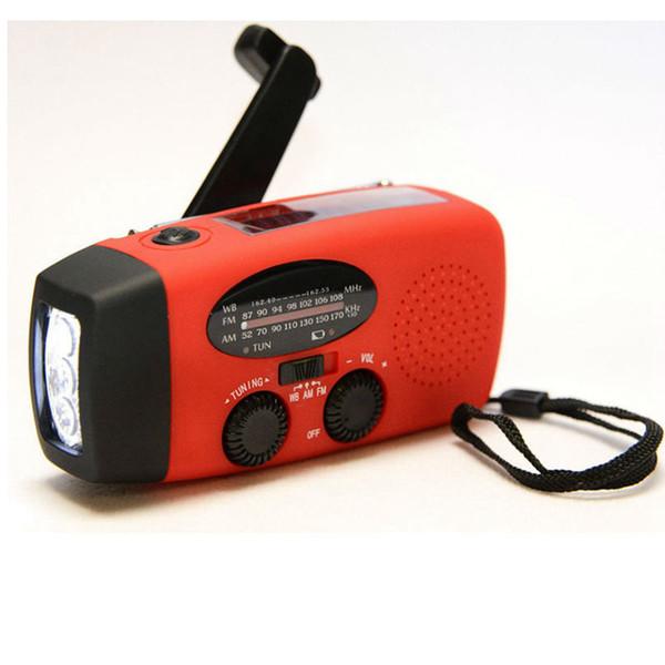 AM / FM / WB Güneş Radyo ışığı Acil Güneş El Krank Güç 3 LED El Feneri Elektrikli Torch Dinamo Parlak Aydınlatma Lambası Yenilik Öğeleri ZZA392