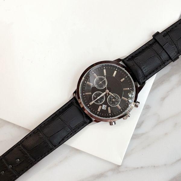2019 TOP Moda aço Inoxidável Relógio de Quartzo Homem De Couro Japão Movimento relógio rosa de ouro Relógios De Pulso Vida À Prova D 'Água relógio masculino Itens quentes