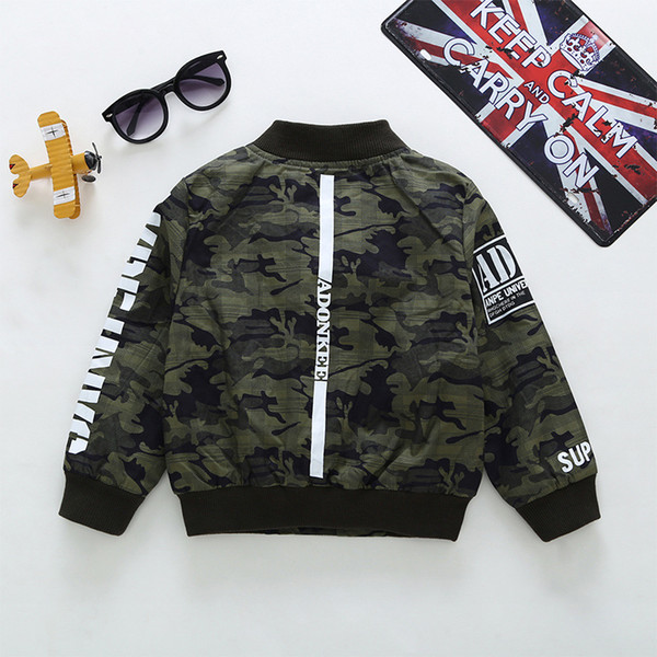 New children's clothing jacket boy camouflage clothing boys and girls double-layer camouflage baseball uniform fashion spring and autumn new
