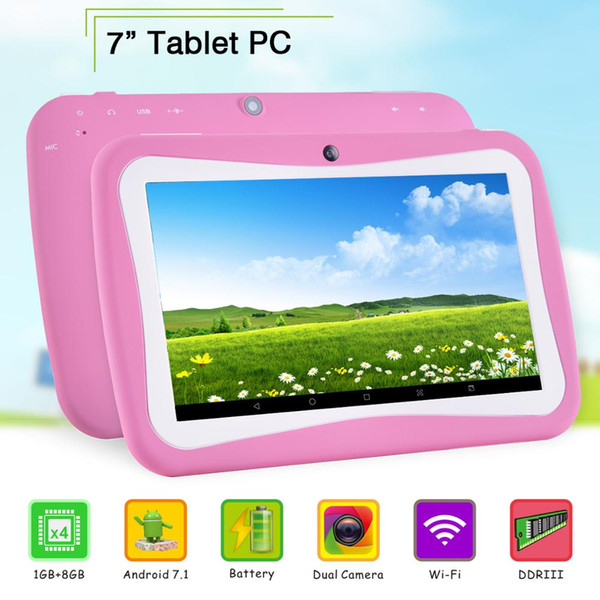 Tablet PC 2 GB di RAM 16 GB ROM 7 pollici 1024 * 600 IPS vetro temperato 7,1 Tablets Android 7.0 + Gifts