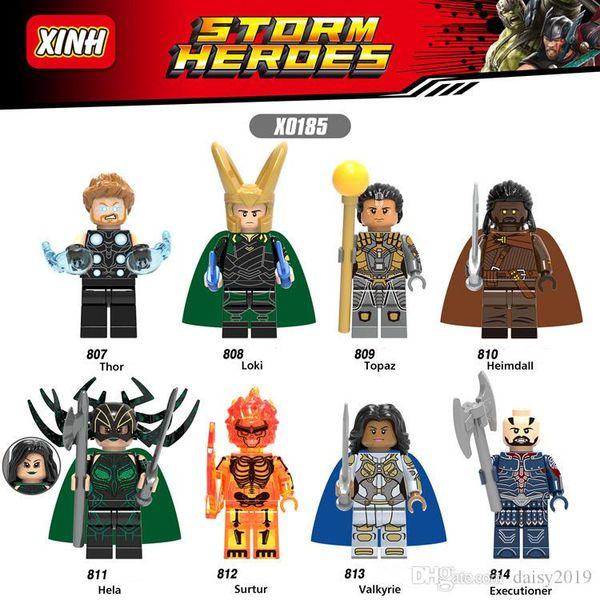 X0185 Super Heroes Thor Loki Topaz Heimdall Surtur boia bambole da regalo giocattoli per i bambini