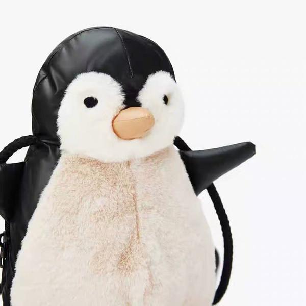 Moda Unisex Kadın Erkek Çocuk Öğrenci Genç Tasarımcı Çapraz Vücut Lüks Omuz Çantası Marka Göğüs Çanta Sevimli Taze penguen B103828Z