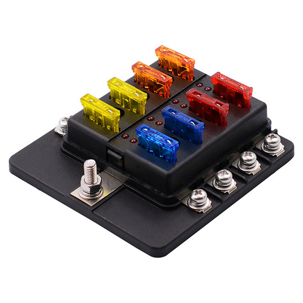 2019 8 Way Blade Fuse Box Holder With LED Light Damp Proof Block Marine Marine Boat Fuse Box on toggle switch mounting box, a b switch box, marine water pump, marine glove box, marine transmission, marine fire extinguisher box, marine instrument cluster box, marine fuel filler neck, marine paneling, marine engine, toggle switch panel housing box, marine fuel line, accessory switch panel housing box, marine exhaust manifold, marine ignition switch, marine wiper motor, marine fuel cap, marine gas cap, marine control box, circuit breaker box,