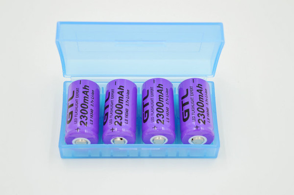 Wholesale cr123a batteries for sale - Group buy onsumer Electronics CR123A v mAh Rechargeable Li ion Battery purple For LED Flashlight Battery Storage Boxes Free
