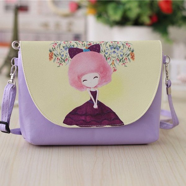 top popular 2019 Children Kid Baby Girl Cat Tote Bag Shoulder Convenient Messenger Leather Princess Bags Crossbody Wallet Wholesale Pudcoco 2020