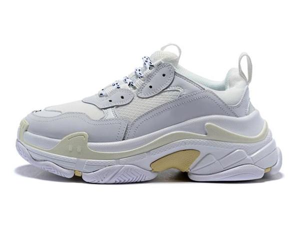 erkekler için Triple-ler tasarımcının ayakkabılar Paris 17FW Triple s Platformu 36-45 c20d09 artan siyah, kırmızı, beyaz, yeşil Casual Baba Ayakkabı tenis womens