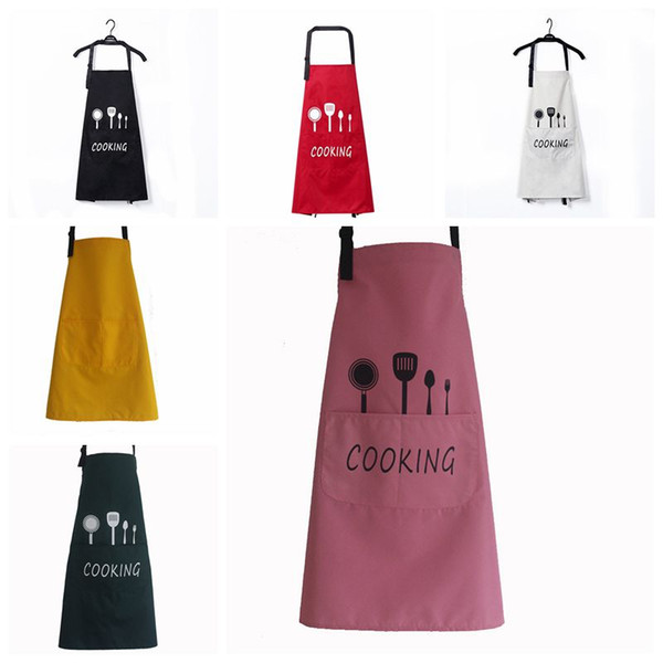 best selling Letter Print Kitchen Apron Waterproof Breathable Cooking Baking Aprons Adjustable Restaurant Aprons Women Home Sleeveless Apron DBC DH0472