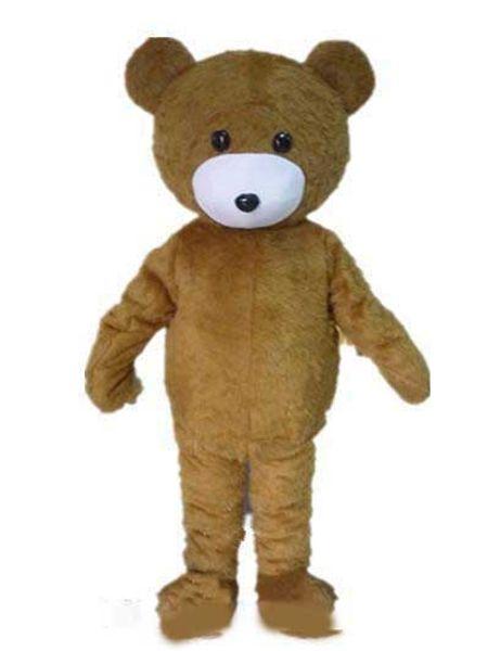 2018 высокое качество горячей brwon медведь костюм талисмана с двумя маленькими глазами для взрослых носить