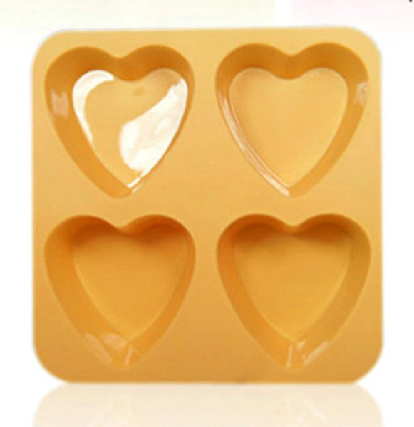 Kuke heart-shaped 4 holes Silicone Ice Cube Tray Mold Ice Mold Maker Silicone Ice Lattice Grid Small Squares Crushed