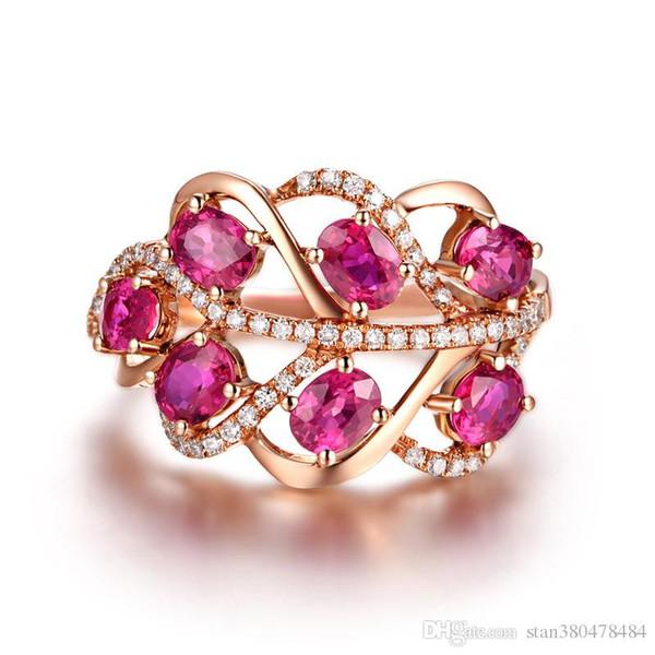 a6cb0f585529 Серебряное кольцо для продажи женский корейский версия лист кольцо Рубин  лист кольцо розовое золото покрытием серебряные ювелирные изделия