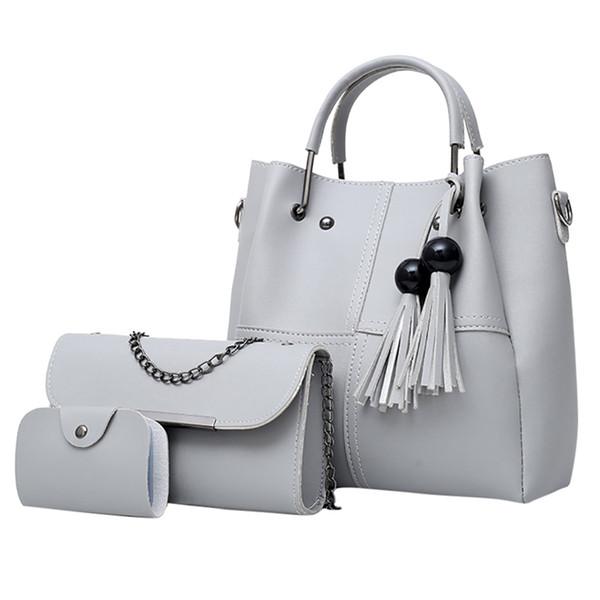 bolsa mujer bags 3pcwomen ladies fashionfringeshoulder handbag purse card crossbody tote bag trendy ladies dropshipping