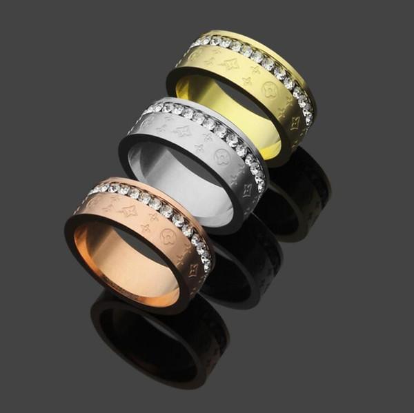 I nuovi anelli di nozze moda per gli amanti di marca del progettista con diamante 18K Fiore anello di fidanzamento di stile per le donne gli uomini Regali