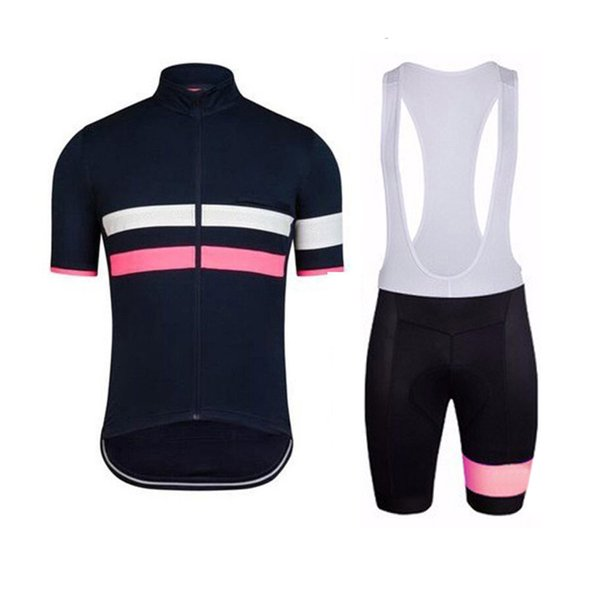 2019 men New Style rapha cycling jersey bib shorts set mtb bike clothes racing uniform summer quick dry outdoor bicycle wear Y041102