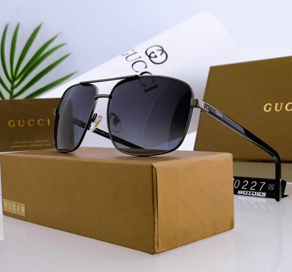 Occhiali da sole di design Occhiali da sole di lusso Summer Fashion Adumbral Glasses for Men Style 0227 5 colori Facoltativo di alta qualità con scatola