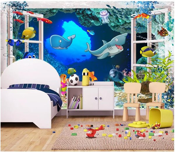 Großhandel 3d Tapeten Benutzerdefinierte Foto Seidentapeten Wandbild 3d  Fantasie Cartoon Kinderzimmer Cartoon Kinderzimmer Wandbild Home Deocr  Papel ...
