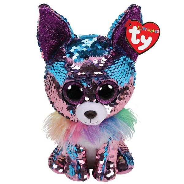 """2019 New Ty Beanie Boos Flippables 6"""" 9"""" Yappy Sequins Chihuahua Plush Stuffed Animal Collectible Soft Doll Toy Christmas Gift"""