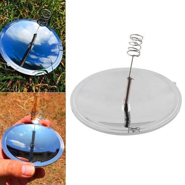 3pcs Outdoor Solar Igniter Lighter Fire Starter Camping Emergency Mirror Gear Popular