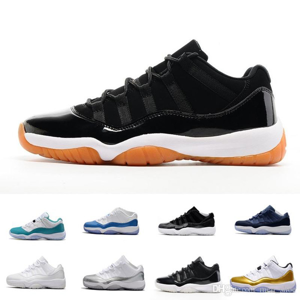 2019 Mens 11 Low Barons 11S Black Basketball Shoes Out Door Sports Sneakers for Men Size US8-13 Real Carbon