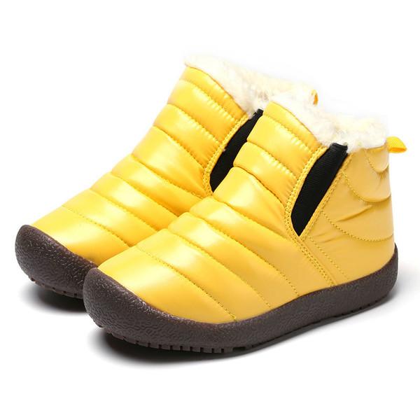 2019 neue Winter Kinder Schuhe Leder Wasserdichte Martin Stiefel Für Marke Mädchen Jungen Gummistiefel Mode Turnschuhe Baby Schneestiefel