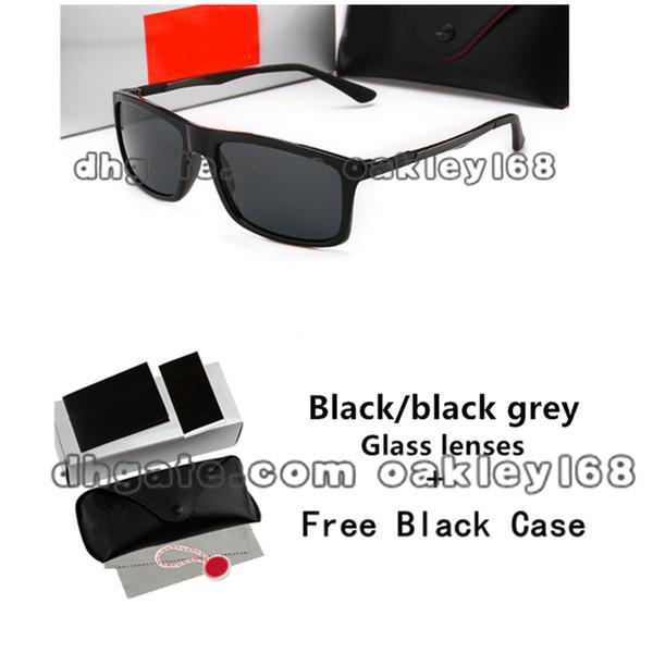Popular Brand Designer Sunglasses For Men 4214 Glass Sunglasses Men'S Square Frame UV Protection Goggles With Cases And Box
