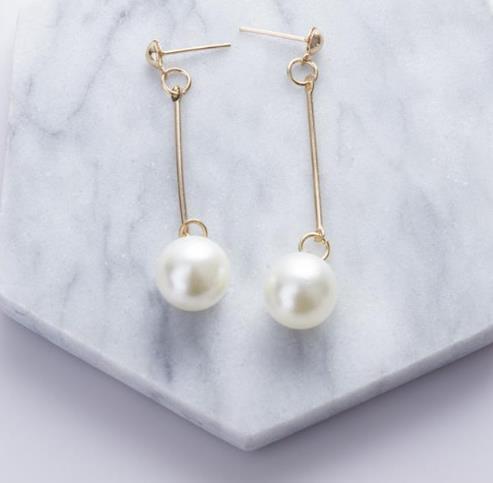 Orecchini Donna Orecchini Lunghi Eardrop Eardrop Pearl Long Eardrop Femmina Accessori Han Edition Ingrosso