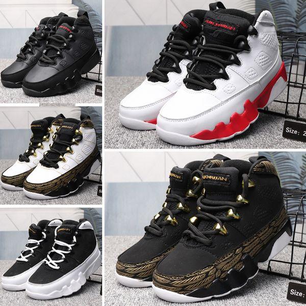 Nike Air Jordan 9 Şık Erkek Kız Çocuk Ayakkabı Tasarımcısı 9 9 s Yeni Moda Atletik Basketbol Ayakkabıları Sneakers Bebek Çocuk Erkek Kız Ayakkabı Için
