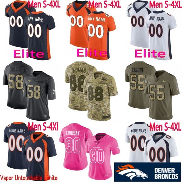 finest selection 91dde 0dbc3 Denver Broncos Jersey 55 Bradley Chubb 58 Von Miller Case ...
