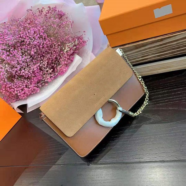 USES The Envelope One Inclined Genuine Leather Handbag Shoulder Bags European And American Lady Chain Ring Pack Much Interlayer Package
