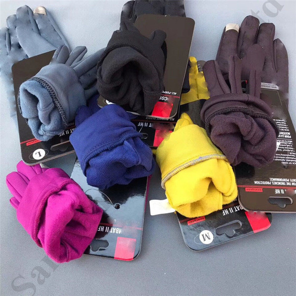 Brand U&A Touch Screen Gloves Women Men Fleece Polar Glove Telefingers Unisex Ski Cycling Sports Touchscreen Glove for Cell Phone C9505