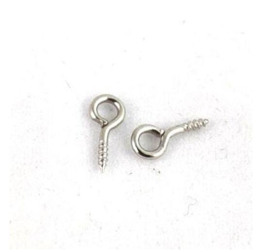 Vintage Silver WGP Screw Eye Pins Findings Charm For Bracelet Necklace Jewelry Making Beads Brand DIY Accessories 10mm 1000pcs