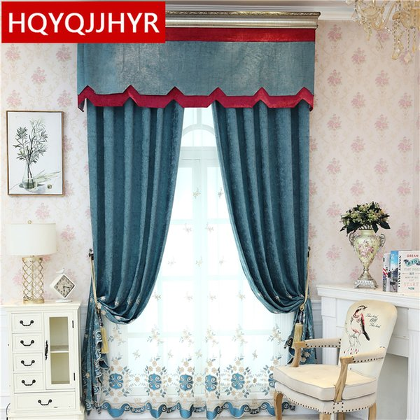 2019 Modern Luxury Chenille Embroidered Villa Curtains For Living Room  Windows High Quality Decorative Curtains For Bedroom Hotel From Hobarte,  $24.55 ...
