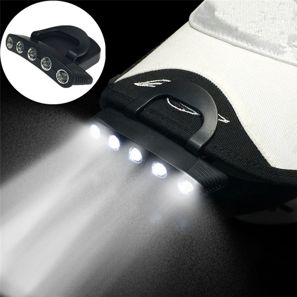 5 LED Cap Clip On Lamp Outdoor Hiking Fishing Hunting Safety Headgear Light Outdoor Bike Bike Accessori per ciclismo 12 ott