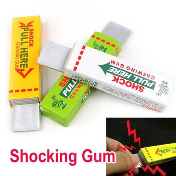 Giocattolo di trucco di sicurezza Elettrico Scioccante Mano Chewing Gum Shocker Scherzo scherzo Divertente Novità Giocattoli Anti-stress Shock Gaget Gaps Giocattoli