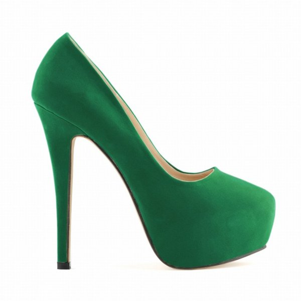 Dress Hot Fashion Women Shoes Ladies Girls Concealed Platform Stiletto High Heels Wedding Party Candy Lovely Colors