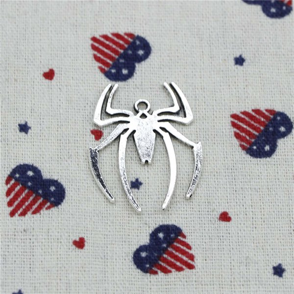 71pcs Charms spider halloween 38*29mm Pendant,Tibetan Silver Pendant,For DIY Necklace & Bracelets Jewelry Accessories