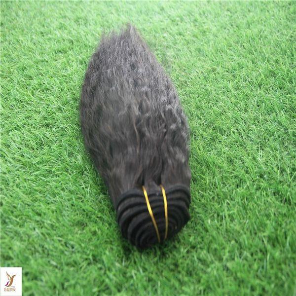 Capelli lisci crespi che tessono fasci di capelli umani al 100% Estensione di capelli di Remy a doppia trama non trasformata da 10-30 pollici