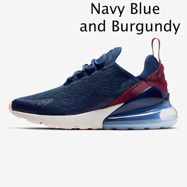 Marineblau und Burgunder