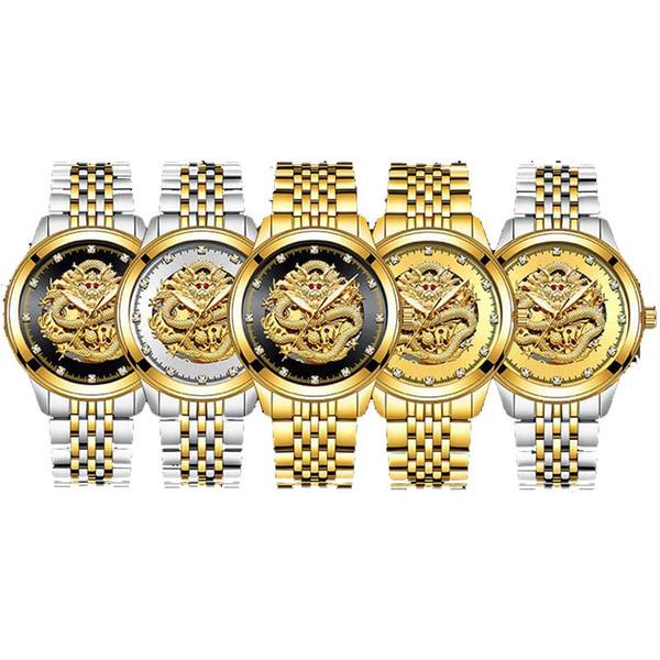 1+2explosion модели роскошные часы из черного золота мужские водонепроницаемые водонепроницаемые автоматические рубиновые алмазные механические часы из нержавеющей стали
