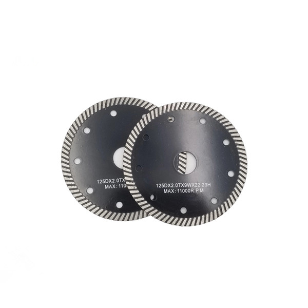D105-230mm Hot Pressed Sintered Continuous Rim Turbo Diamond Saw Blades Super Thin Diamond Cutting Disc for Concrete and Stone