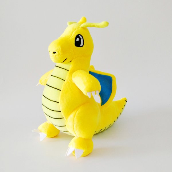 Hot Sale New 9inch 23cm Yellow Dragonite Pikachu Plush Stuffed Doll Toy For Kids Best Holiday Gifts Wholesale