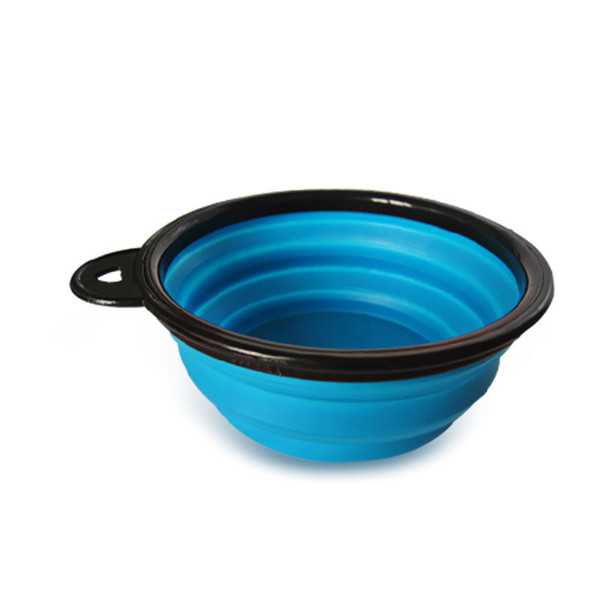 best selling Wholesale 7 Colors Outdoor Travel Portable Collapsible Pet Dog Cat Feeding Bowl Silicone Foldable Water Dish Feeder Dog Bowl DH0275 T03