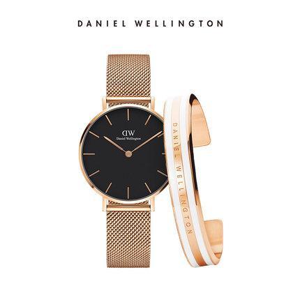 top luxury brand Daniel donna uomo Wellington's watch fashion cinturino in acciaio inossidabile stile 40 / 32mm Bracciale dw oro rosa orologi da uomo con gif