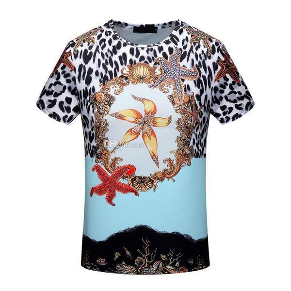 Neue T-Shirts für Sommer Männer Blumendruck Pullover Kurzarm T-Shirts Mode Streetwear T-Shirt Baumwolle Fitness Tops Herrenbekleidung