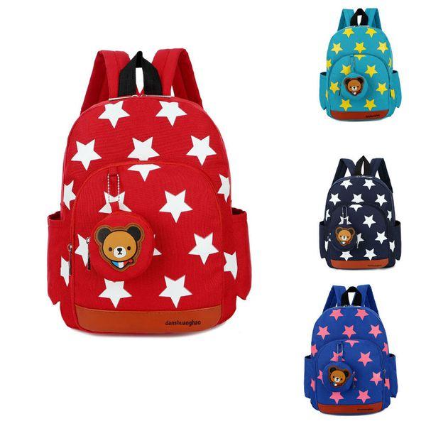 Enfants garçon fille enfants sac à dos pépinière enfant en bas âge mignon sac d'école du déjeuner sac à dos